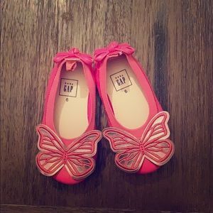 Toddler Flats with butterfly design